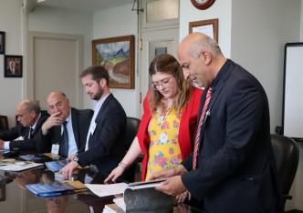 """ვაშინგტონში  """"ენგურის ტურისტულ ცენტრსა"""" და  """"ჰუვერის კაშხლის"""" საპარტნიორო ხელშეკრულებას მოეწერა ხელი"""